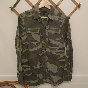 J Crew vintage camo military button down shirt